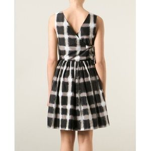Marc Jacobs Blurred Gingham Fit And Flare Dress